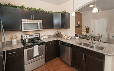 Example of an Apartment kitchen at Carrington Oaks