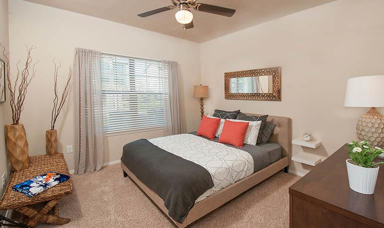 Large Apartment Bedroom at Carrington Oaks in Buda, TX