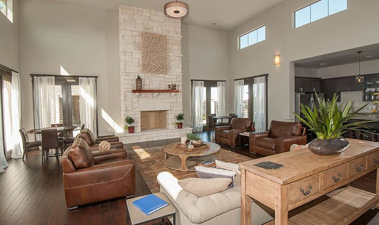 Community area at Carrington Oaks in Buda, TX