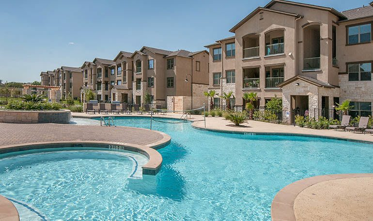 Additional view of the pool at Carrington Oaks in Buda, TX