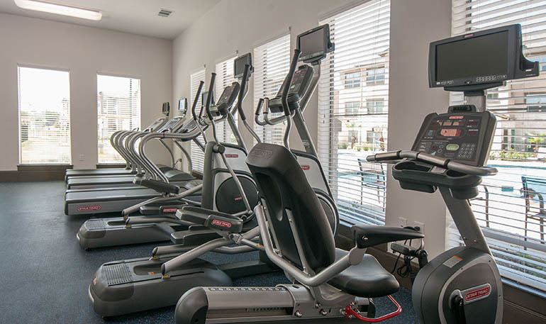Fitness center at Carrington Oaks in Buda, TX