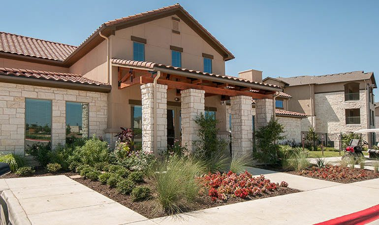 Beautiful Exterior of Apartments at Carrington Oaks in Buda, TX