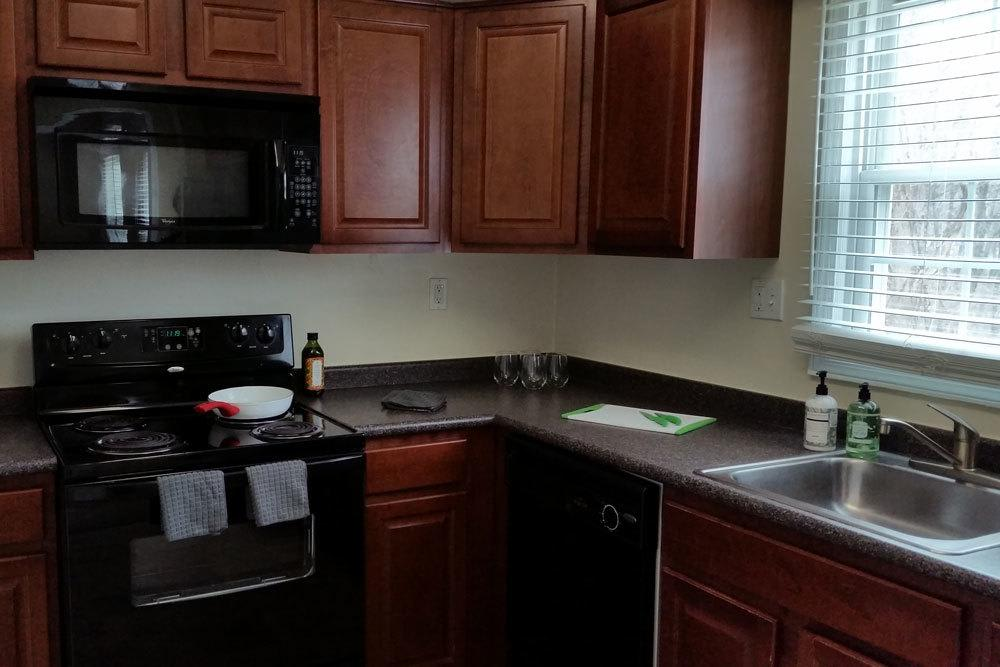 Our Apartments Feature Clean And Modern Kitchens
