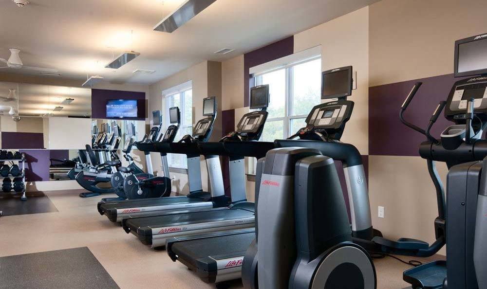 Treadmills at the State-of-the-Art Fitness Center
