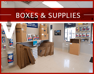 Boxes and supplies at Virginia Varsity Transfer & Self Storage