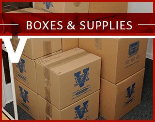 Boxes and supplies at Virginia Varsity Transfer