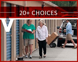 20+ choices at Virginia Varsity Self Storage