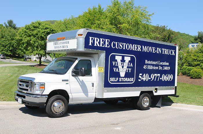 Free moving truck at Virginia Varsity Self Storage