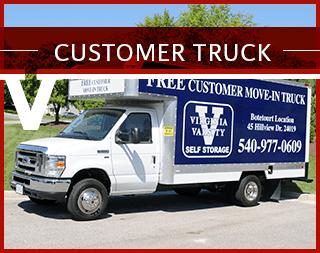Customer truck usage at Virginia Varsity Self Storage