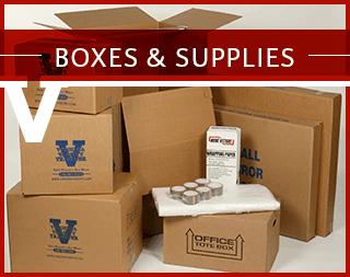 Boxes and supplies at Virginia Varsity Self Storage