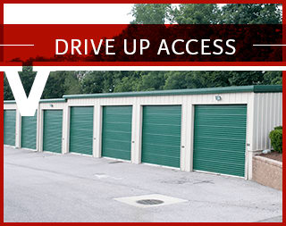 Drive up access at Virginia Varsity Self Storage