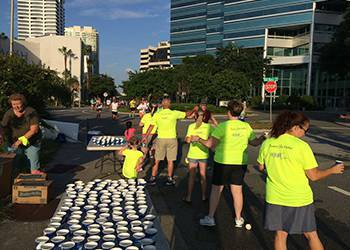WRH Realty Services, Inc Volunteering for a Marathon