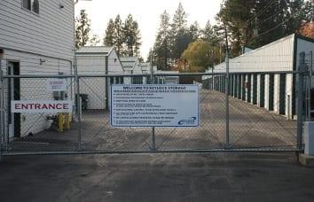Coeur d'Alene Self Storage Security Gate