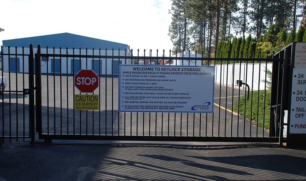 self storage security gate in Coeur d'Alene