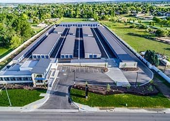 Aerial view at Keylock Storage in Meridian