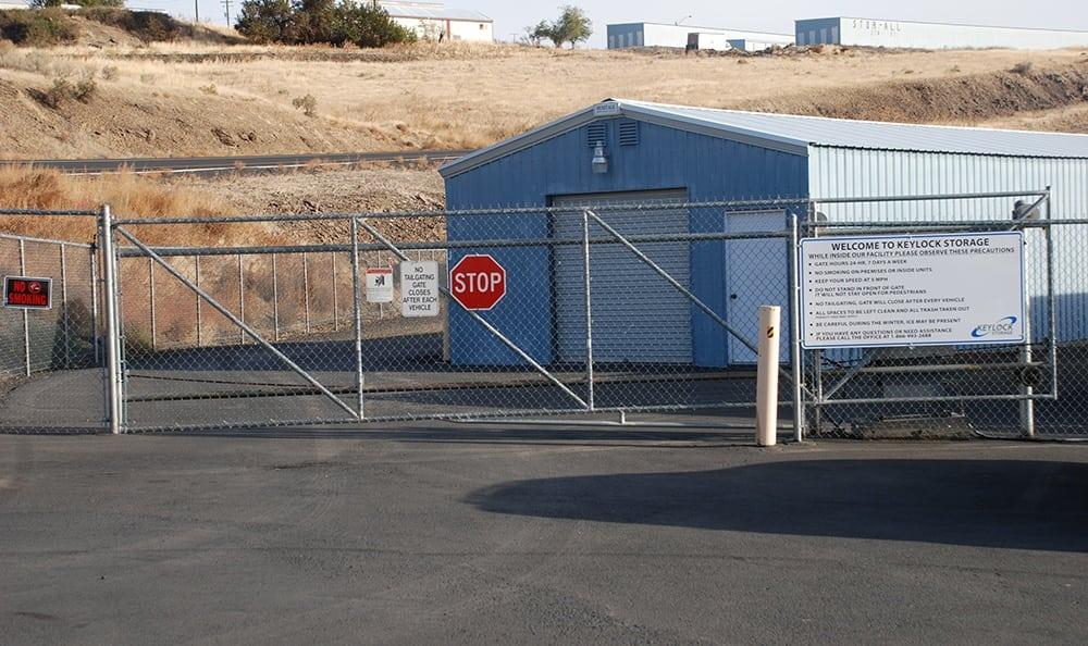 Self storage security gate in Pendleton
