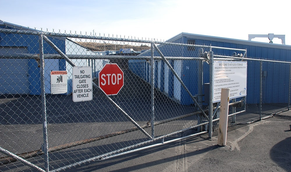 Pendleton security gate and self storage units