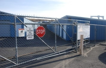 Pendleton Self Storage Security Gate