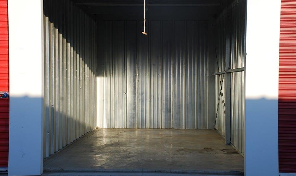 Interior of a self storage unit in Pasco