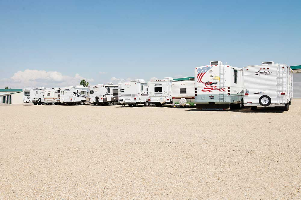 RV and boat parking is available at Keylock Storage.
