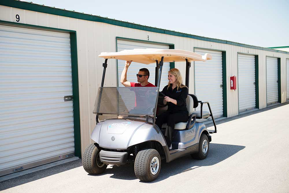We can give you a lift to your unit at Keylock Storage.