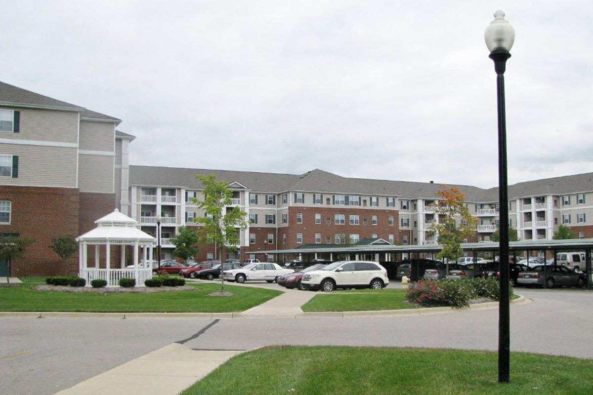 Relax On The Patio At Senior Living in Brownstown Twp, MI