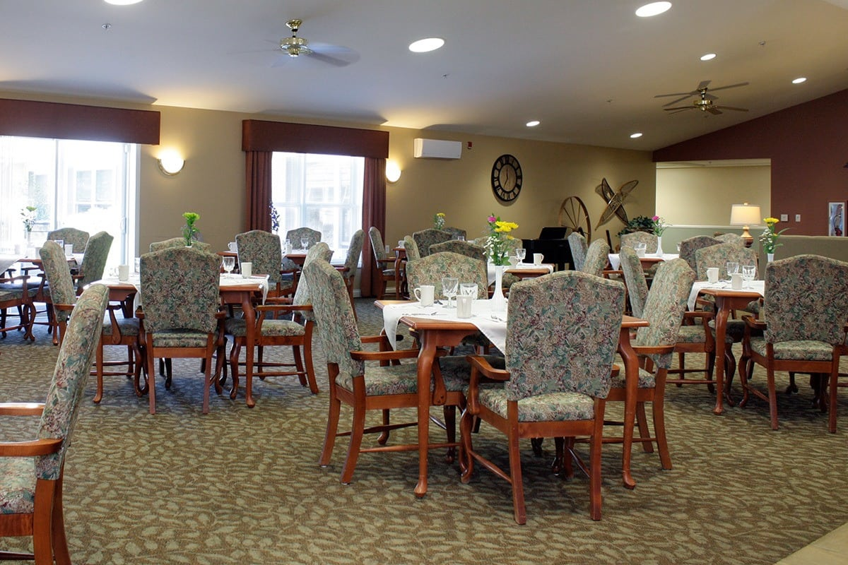 Open and comfortable dining facilities at Senior Living In Charlevoix MI