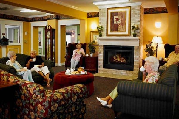 Friends Enjoying Tea At Senior Living In Dearborn Heights MI