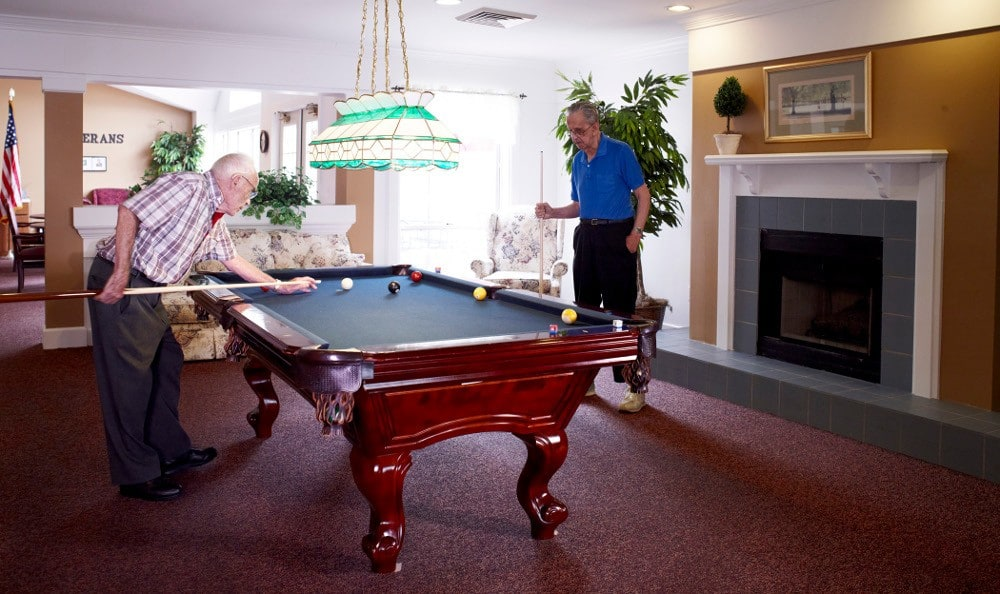 Billiards At Senior Living In Rochester Hills MI