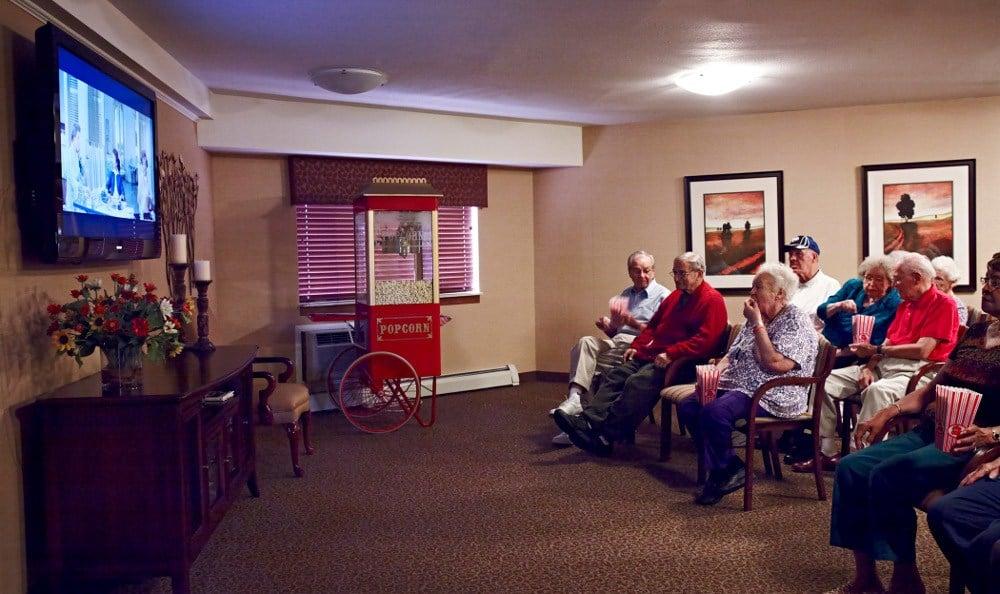 Movie Night At Senior Living In Grand Blanc MI