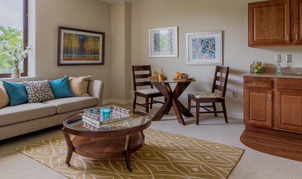 Apartment Interior At Senior Living In Grosse Pointe Farms, MI
