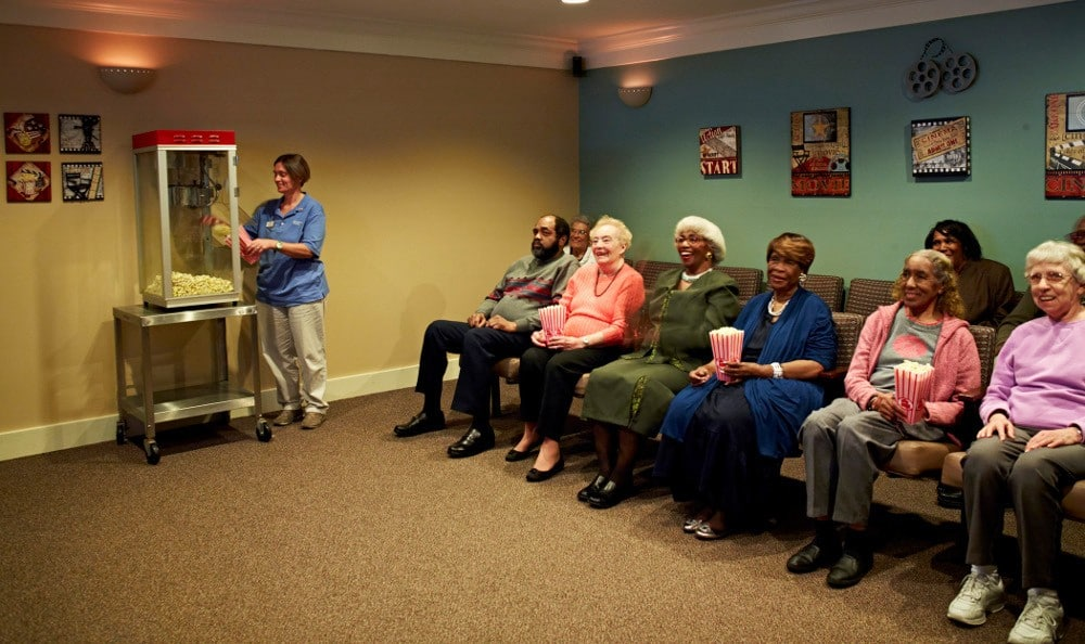 Movie Night At Senior Living In Hazel Park, MI