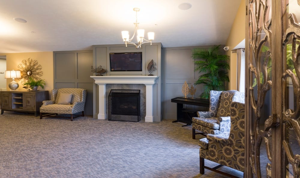 Relax By the Fire at Senior Living In Holland, MI