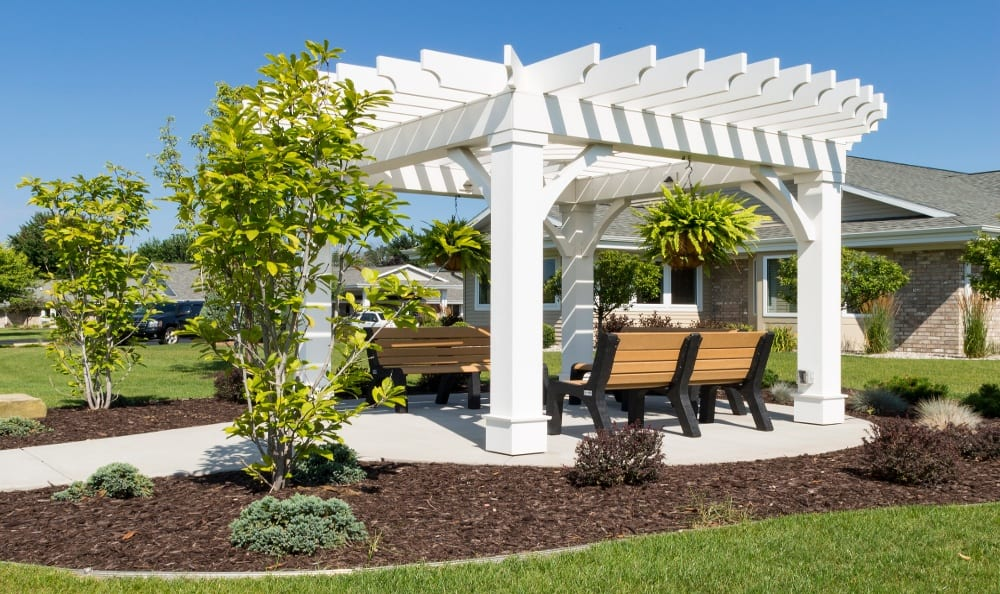 Another view of the Gazebo at Senior Living In Holland, MI