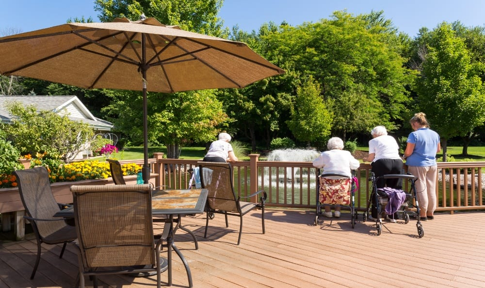 Relax On the Patio at Senior Living In Holland, MI