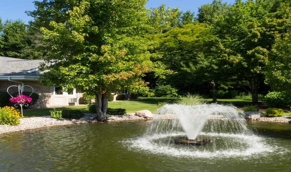 Another view of the water feature at Senior Living In Holland, MI