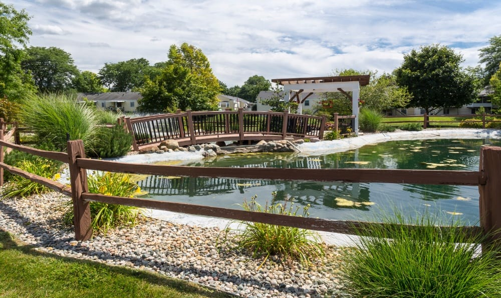 Community Pond at Senior Living In Jenison, MI