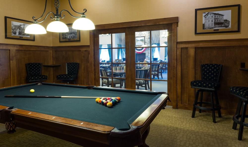 Billiards Room at Senior Living In Jenison, MI