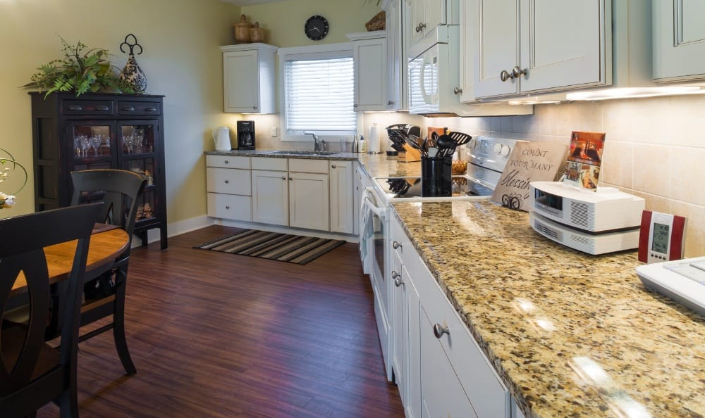 Large Counter Space in Apartments at Senior Living In Jenison, MI