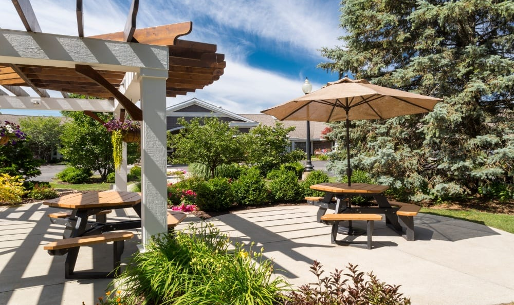 Relax on the Patio at Senior Living In Kentwood, MI