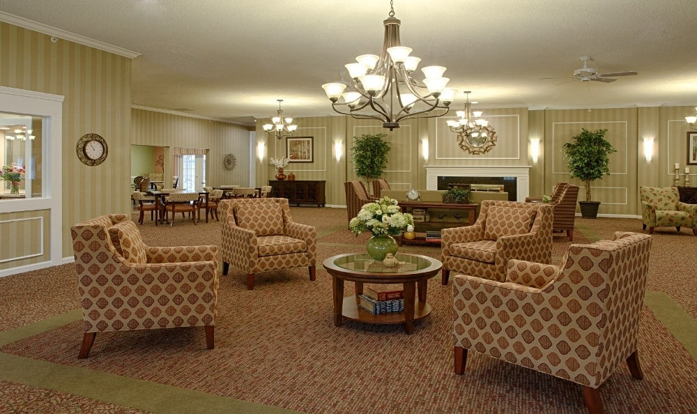 Relax By The Fire At Senior Living in Livonia, MI