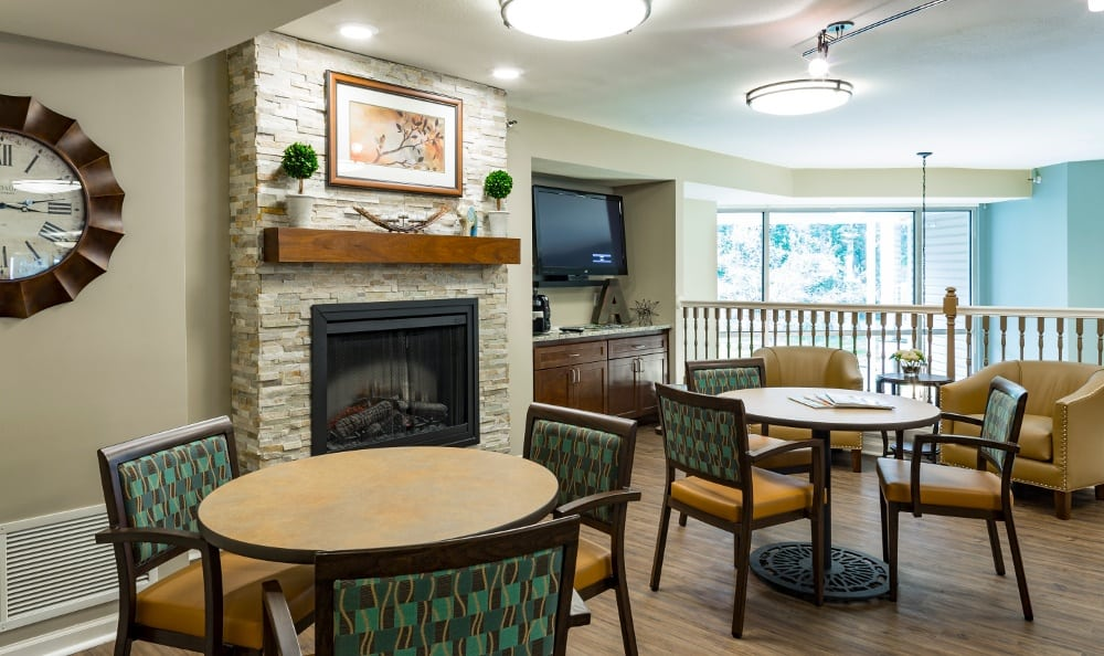 Relax By the Fire At Senior Living In Spring Lake, MI
