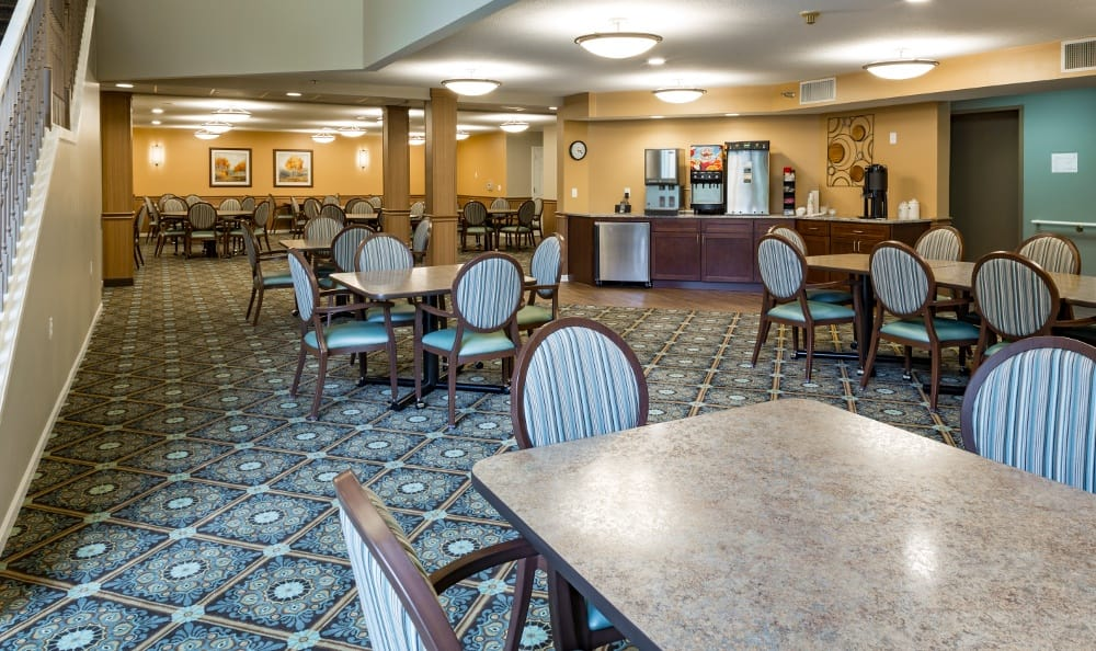 Beautiful Dining Hall At Senior Living In Spring Lake, MI
