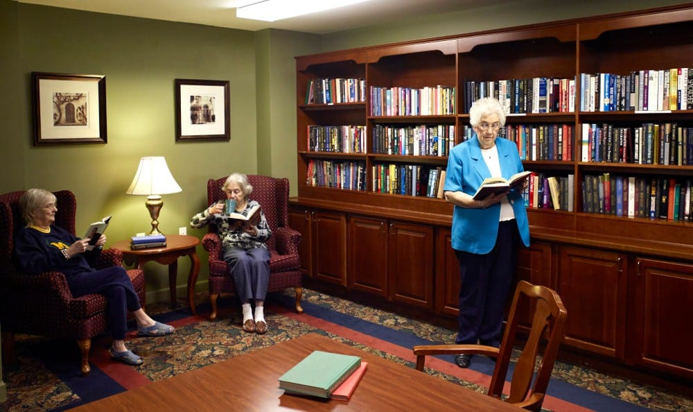 Relax In the Library At Senior Living In Flint, MI