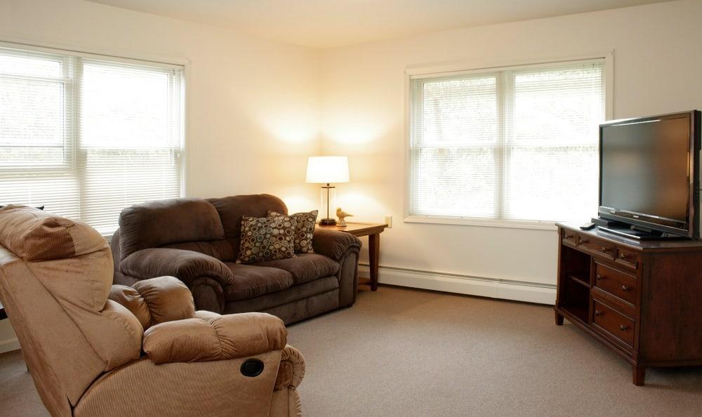 Example Apartment Living Room at Senior Living In Petoskey, MI