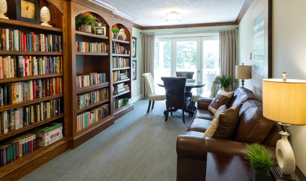 Relax In the Library At Senior Living In Spring Lake, MI