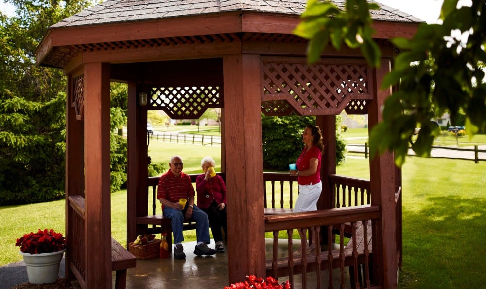 Relax On The Gazebo At Senior Living In Sterling Heights, MI