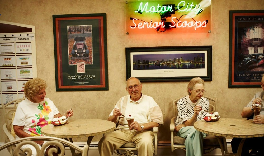 Senior Scoops Ice Cream At Senior Living In Sterling Heights, MI