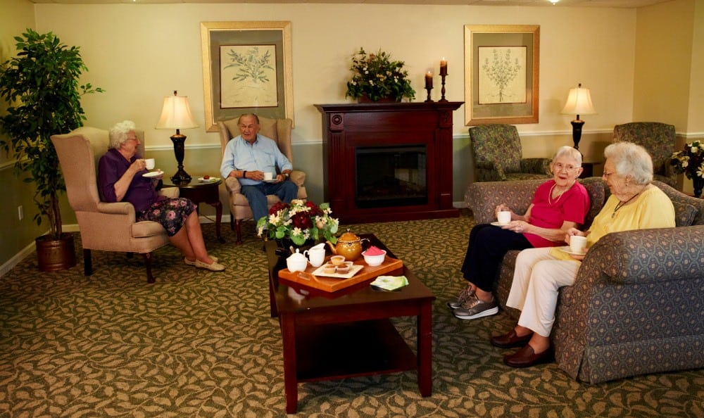 Relax By The Fire At Senior Living in Sterling Heights, MI
