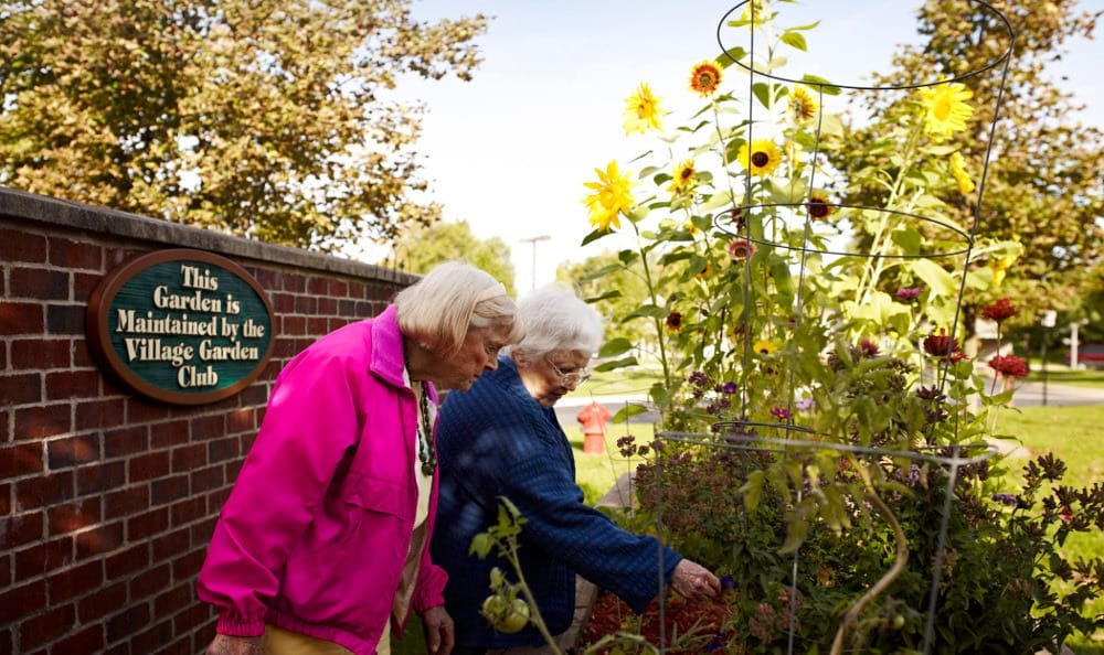 Enjoy the Garden At Senior Living in Rochester Hills, MI